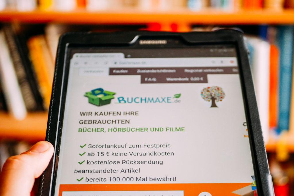 Buchmaxe hilft beim nachhaltigen Buchkonsum.